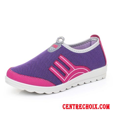 Chaussures Fitness Femme Vin Rouge Argent, Chaussure Femme Sport Pas Cher