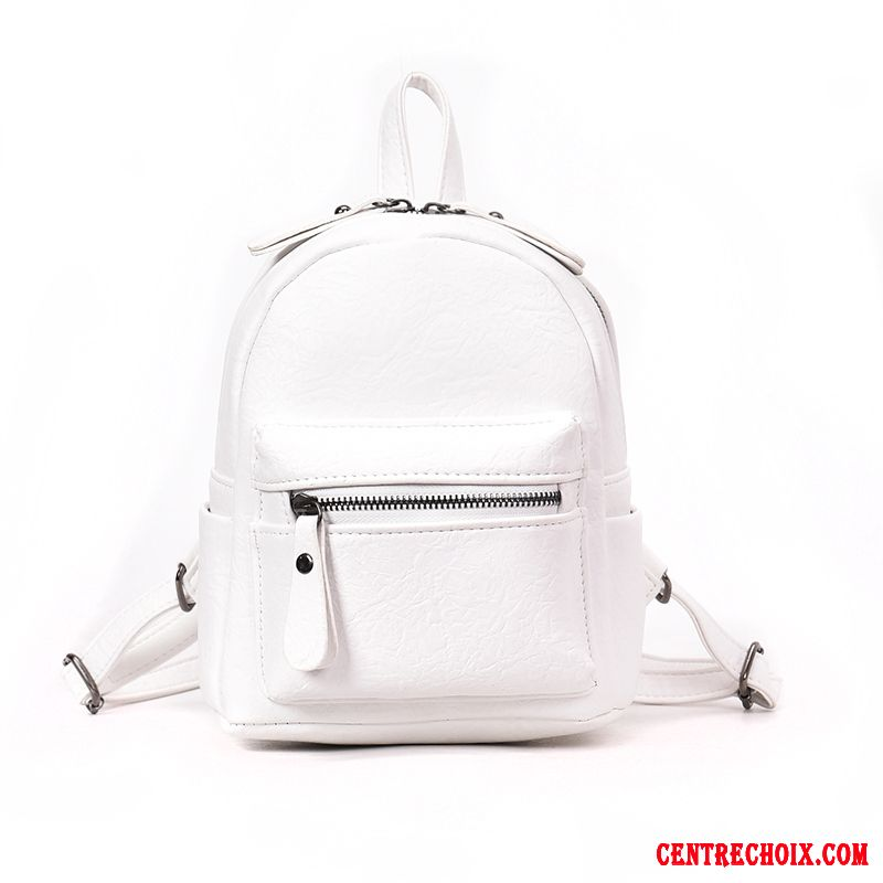 Sac À Dos Femme All-match Mode Petit Loisir Mini Simple Blanc